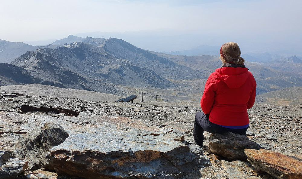 The top of Veleta looking over the mountain past the chair lift
