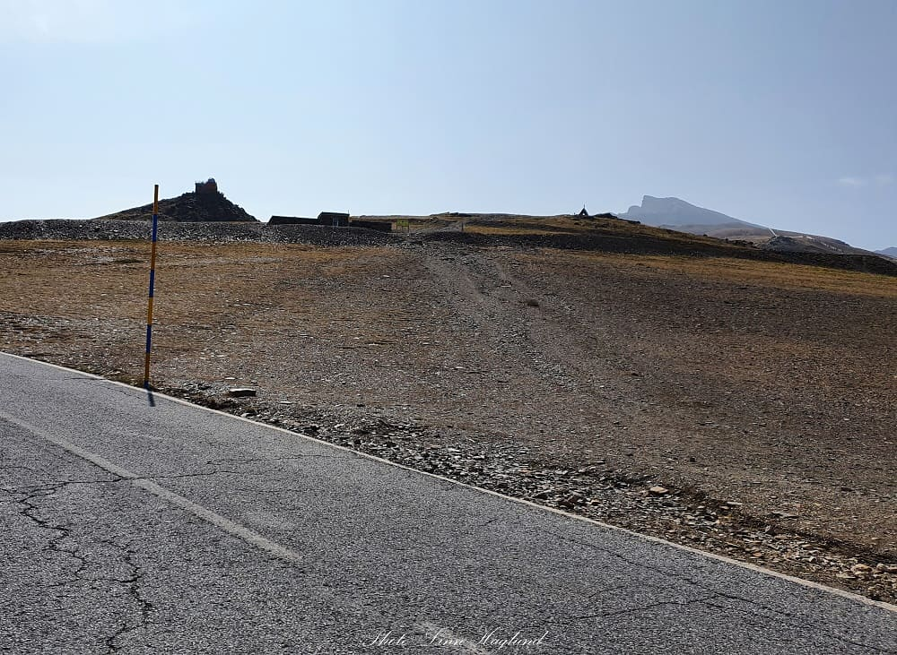 This is where the trail starts towards monument of Virgen de las Nieves which is seen in front of Pico de Veleta in the far back