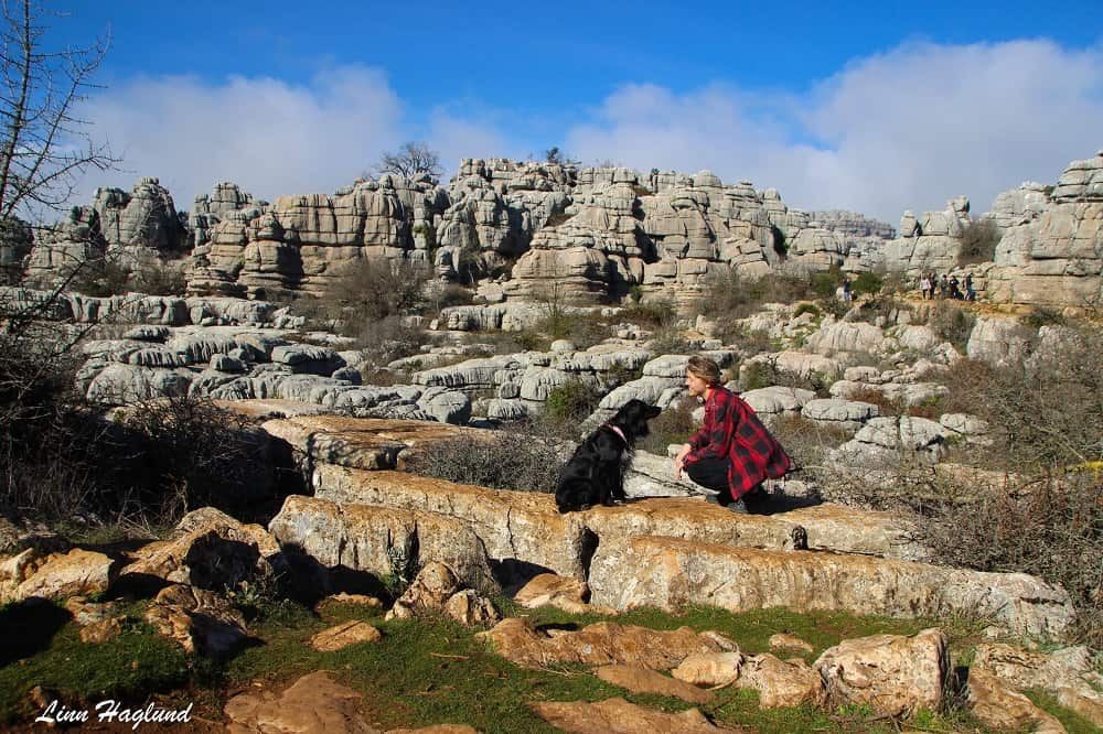 Ayla and I hanging out in El Torcal de Antequera