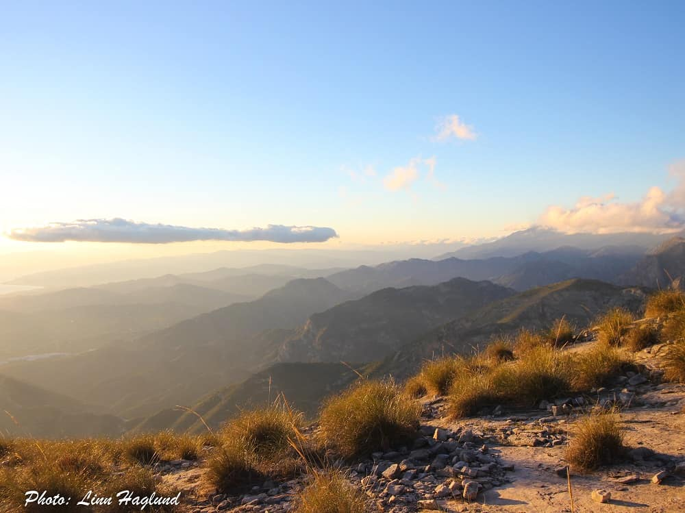 Sunset view from Pico del Cielo