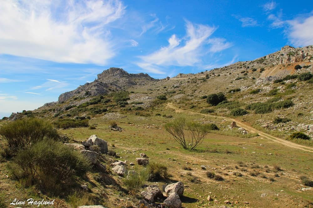 The first part of the Orange trail - El Torcal de Antequera