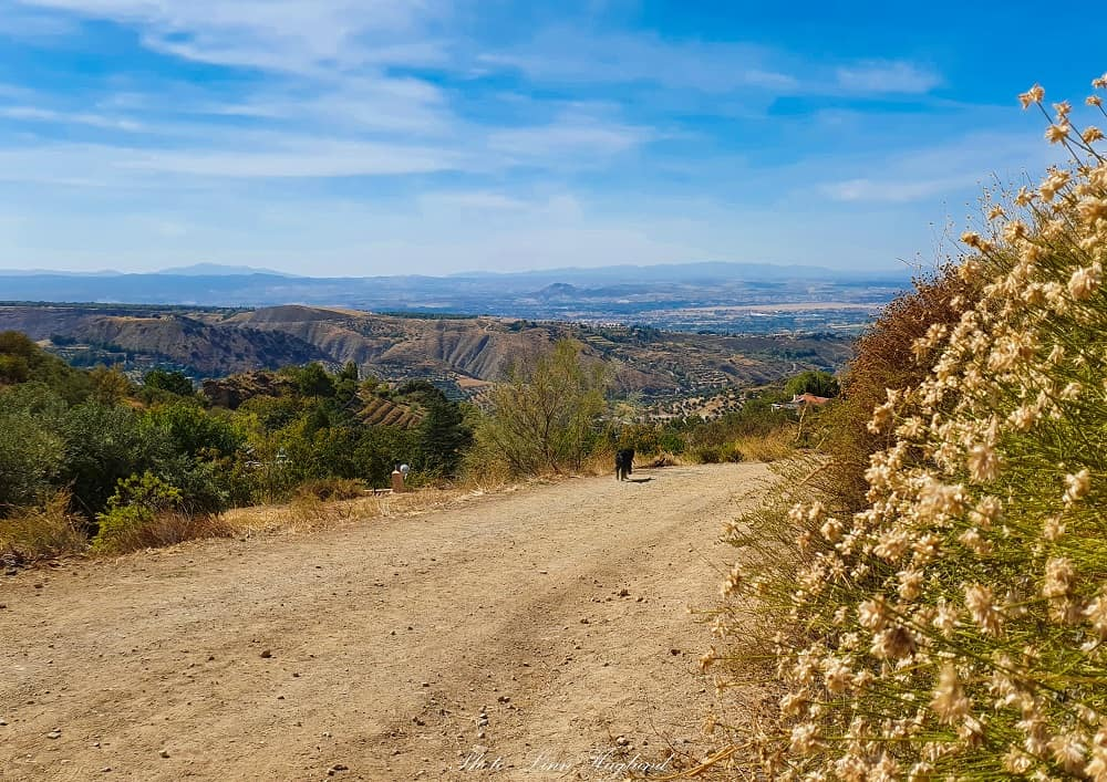 The dirt track back to Monachil