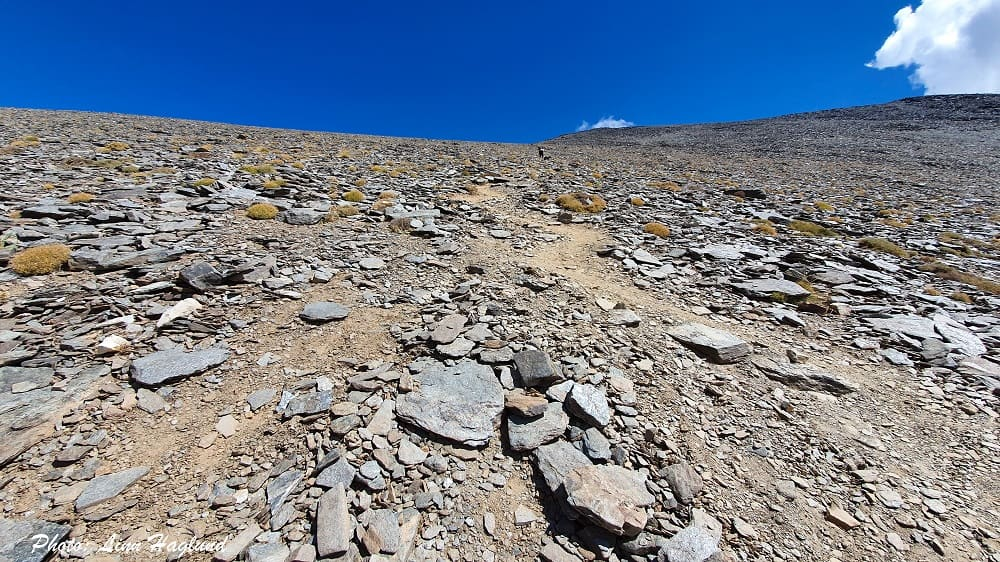Climbing Mulhacen - half way up the west flank