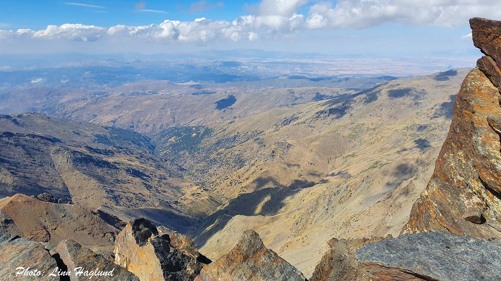 Views from the top of Mulhacen - the highest mountain in Sierra Nevada