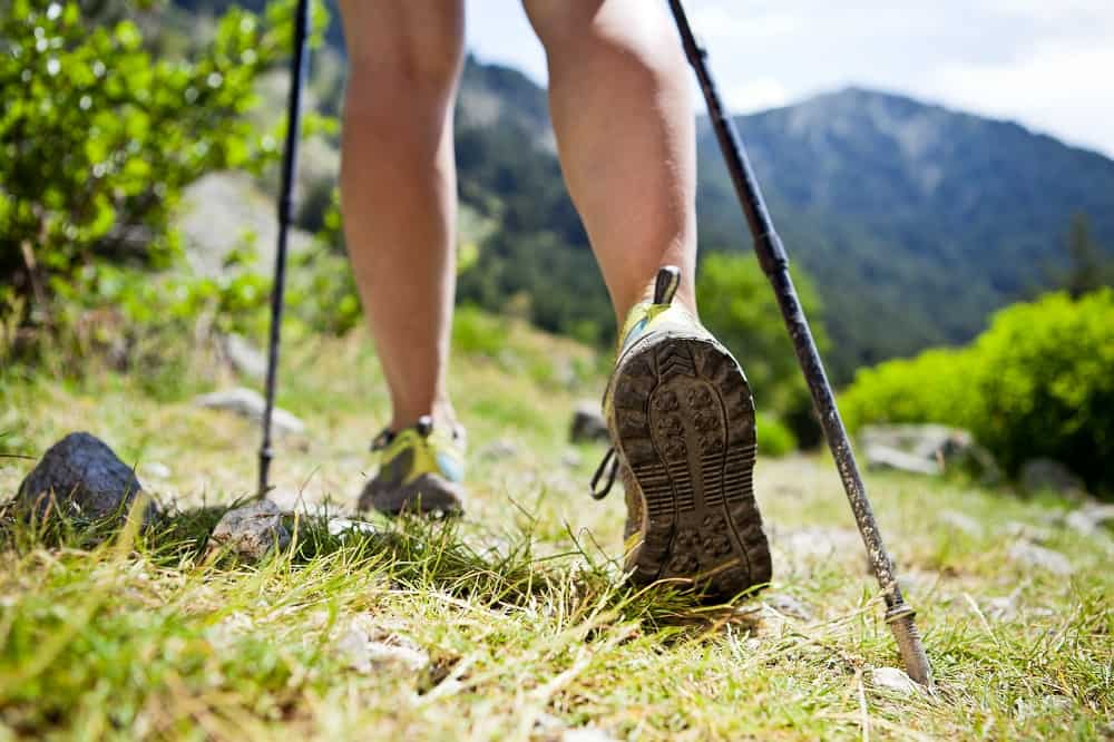 Ultralight trekking poles are great on long distance hikes