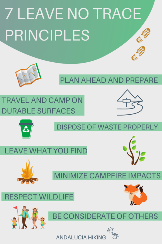 The 7 Leave No Trace Principles are important guidelines to follow when you are out hiking. It all starts with the right mindset and this post goes through each of the seven leave no trace principles so that you can become a more ethical hiker.
