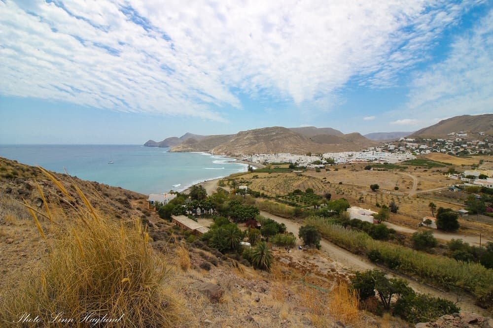 Views of Las Negras from the start of the track to Cala de San Pedro