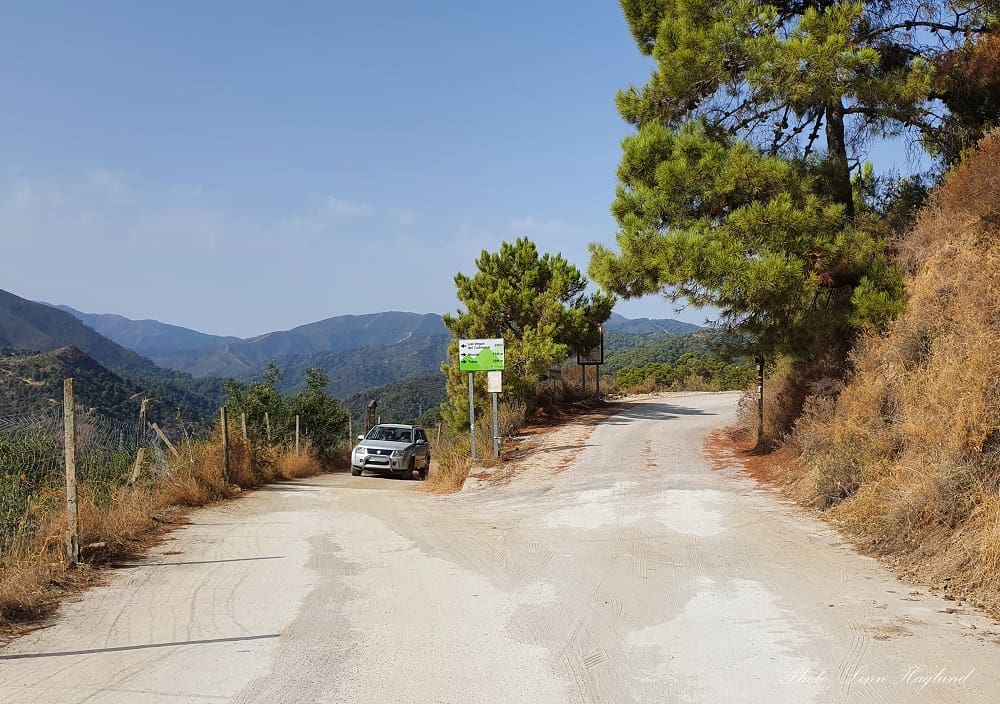 The drive to Rio Verde from Istán